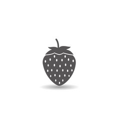 strawberry fruit icon simple flat style vector image
