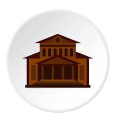 Theater building icon circle vector