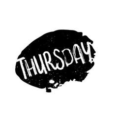 Thursday rubber stamp vector