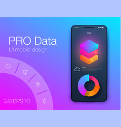 web application data infographic ui ux stock vector image
