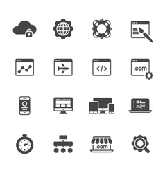 Website Development Icons vector image