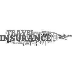 Will you need travel insurance text word cloud vector