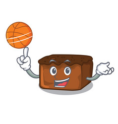 With basketball brownies character cartoon style vector