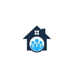 Work house logo icon design vector
