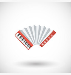 accordion musical instrument flat icon vector image