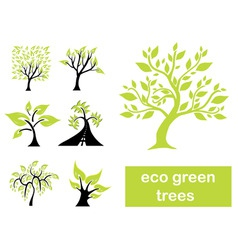 eco green trees vector image vector image