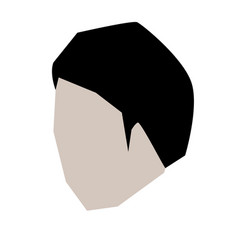 man head faceless with short hairstyle in white vector image vector image