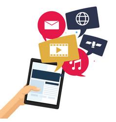mobile applications technology communication web vector image