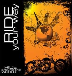 ride around the world vector image
