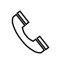 telephone handset phone vector image