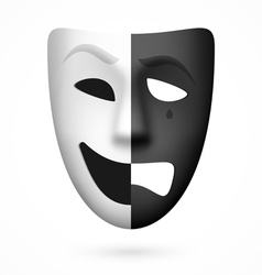 Comedy and tragedy theatrical mask vector image vector image