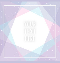 Cute blue pink violet greeting card template vector