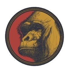 Gorilla head logo mascot emblem vector