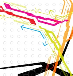 hi tech abstract background vector image vector image
