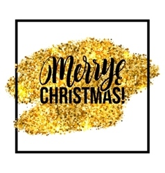 Merry Christmas card Gold sparkles vector image vector image