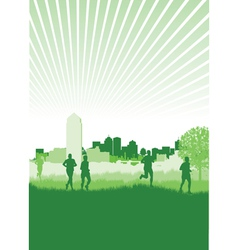 nature runners vector image vector image