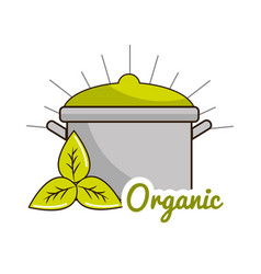 organic food icon stock vector image