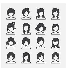 woman icon vector image vector image