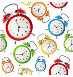 alarm clock pattern background vector image vector image