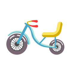 blue children bicycle with yellow seat isolated on vector image vector image