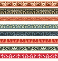 Design elements pompeian roman borders classical vector
