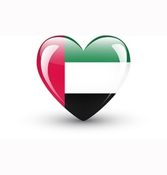 Heart-shaped icon with flag of the UAE vector image