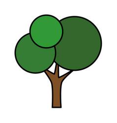 Isolated cute tree vector