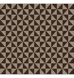 Knitting pattern sweater romb vector