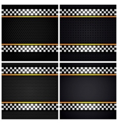 Metallic perforated sheets vector image vector image