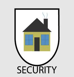Secutity home icon vector image