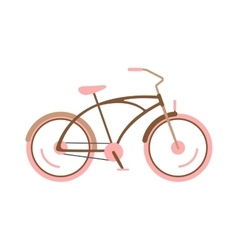 Stylish womens pink bicycle isolated on white vector image vector image