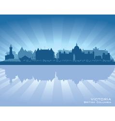 Victoria Canada skyline silhouette vector image