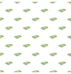 Bundle of money pattern cartoon style vector image
