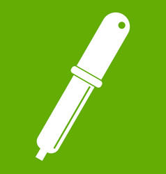 color picker pipette icon green vector image vector image