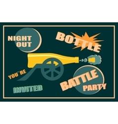Design for wine event Bottle battle party vector image vector image