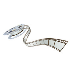 movie film spooling out of film reel vector image