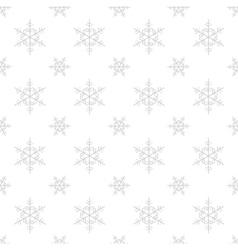 Seamless snowflake Christmas background vector image