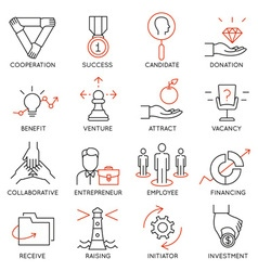 Set of icons related to business management - 30 vector image vector image