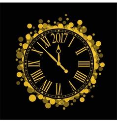shiny New Year 2017 countdown Clock vector image