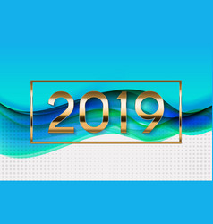 2019 abstract new year vector