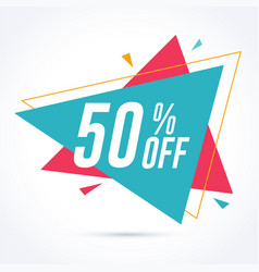 50 percent off discount and sale promotion banner vector image