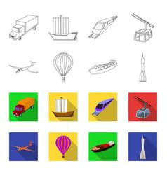 A drone a glider a balloon a transportation vector