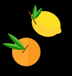 abstract geometric lemon and orange vector image