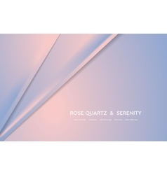 Abstract rose quartz and serenity trendy vector