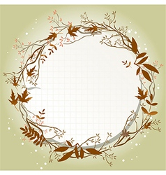 Autumn greeting card with place for text vector image