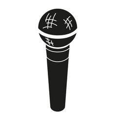 black and white microphone silhouette vector image