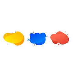 Blob abstract shape organic banner design element vector