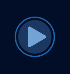 Button play template design vector