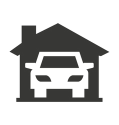 car vehicle silhouette icon vector image