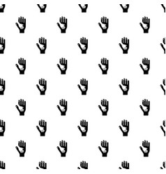 caring hand pattern seamless vector image